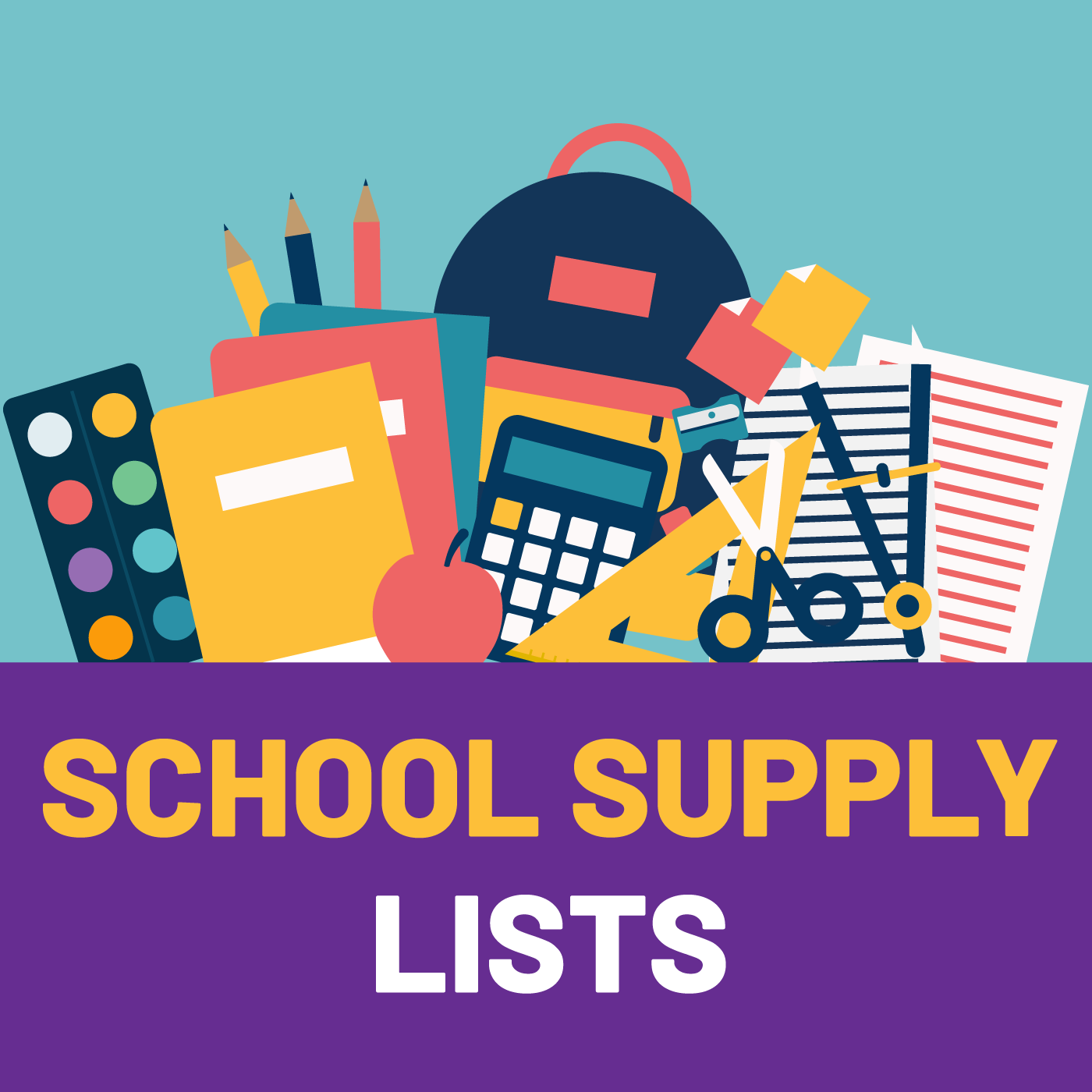 School Supply Lists Ready for 2019 - 2020