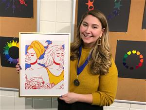 Kaytlin Nething 2020 Northwestern High School Art Exhibition Merit Award Recipient