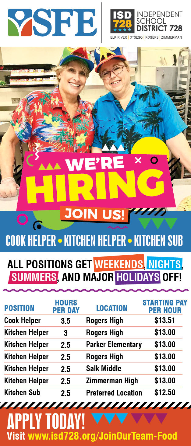 sfe hiring kitchen staff
