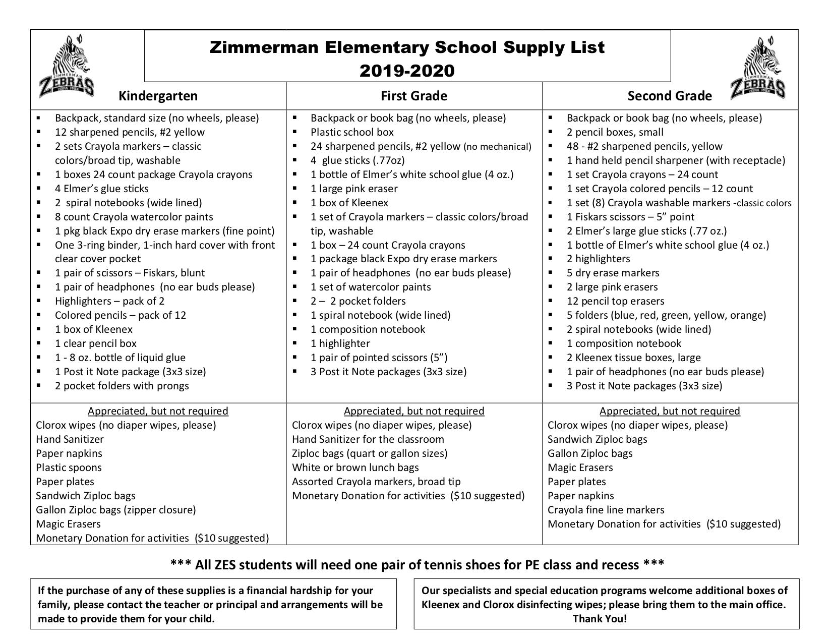 School Supplies Info / School Supplies Info