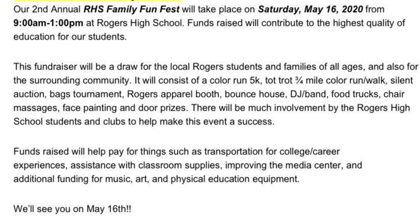 Information for Fun Fest