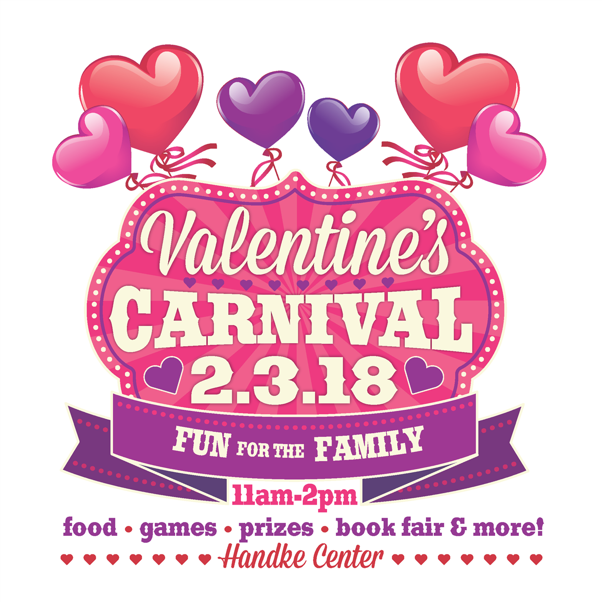 Volunteer at the ECFE Valentine's Carnival!