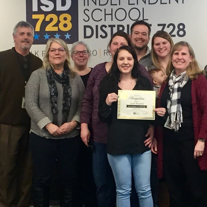 RMS, RHS and ISCH Students Honored by ISD 728 Board