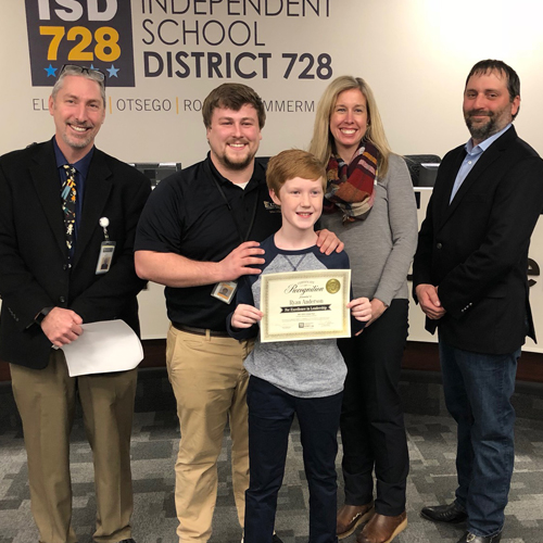 Student Recognition: Board Honors Outstanding Students from Parker, Prairie View, Otsego, Zimmerman