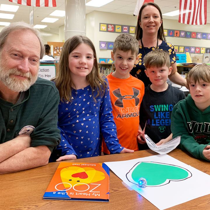 Author, Illustrator Michael Hall and William Durbin Visit Rogers Elementary