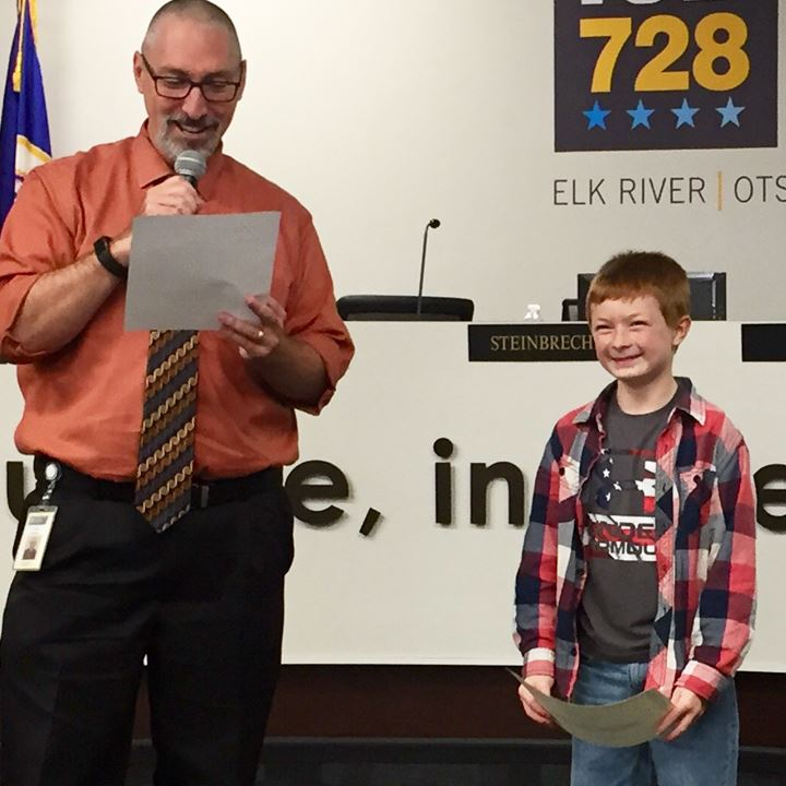 ISD 728 School Board Recognizes Students from Parker, Otsego