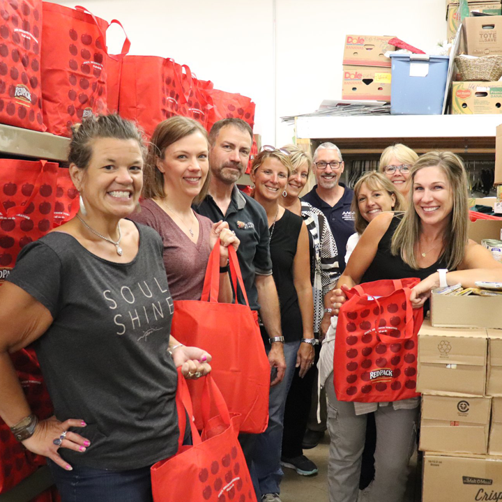 ISD 728 District Office Staff Donates Time at CAER