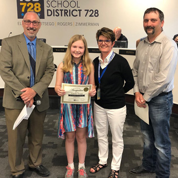 Student Leadership Recognized at May 14 School Board Meeting